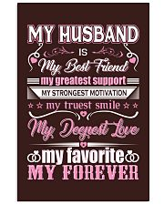 Wife T-Shirt - My Husband is my best friend 11x17 Poster thumbnail