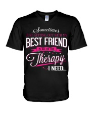 Best Friend - Therapy V-Neck T-Shirt thumbnail