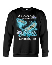 I BELIEVE THERE ARE ANGELS AMONG US Crewneck Sweatshirt thumbnail