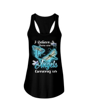 I BELIEVE THERE ARE ANGELS AMONG US Ladies Flowy Tank thumbnail