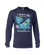 I BELIEVE THERE ARE ANGELS AMONG US Long Sleeve Tee front