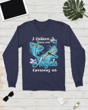 I BELIEVE THERE ARE ANGELS AMONG US Long Sleeve Tee lifestyle-unisex-longsleeve-front-6