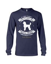 Poodle Standard Funny Gift Tshirt Long Sleeve Tee front