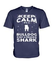 Bulldog Funny Gift Tshirt V-Neck T-Shirt thumbnail