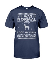 Italian Greyhound Ugly Christmas Sweaters Funny Gi Premium Fit Mens Tee thumbnail