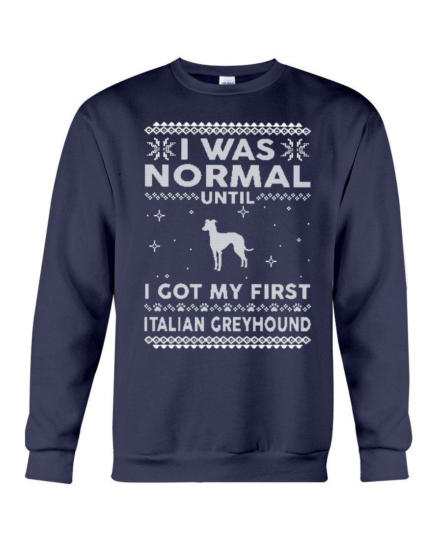 Italian Greyhound Ugly Christmas Sweaters Funny Gi Crewneck Sweatshirt