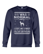 Italian Greyhound Ugly Christmas Sweaters Funny Gi Crewneck Sweatshirt front
