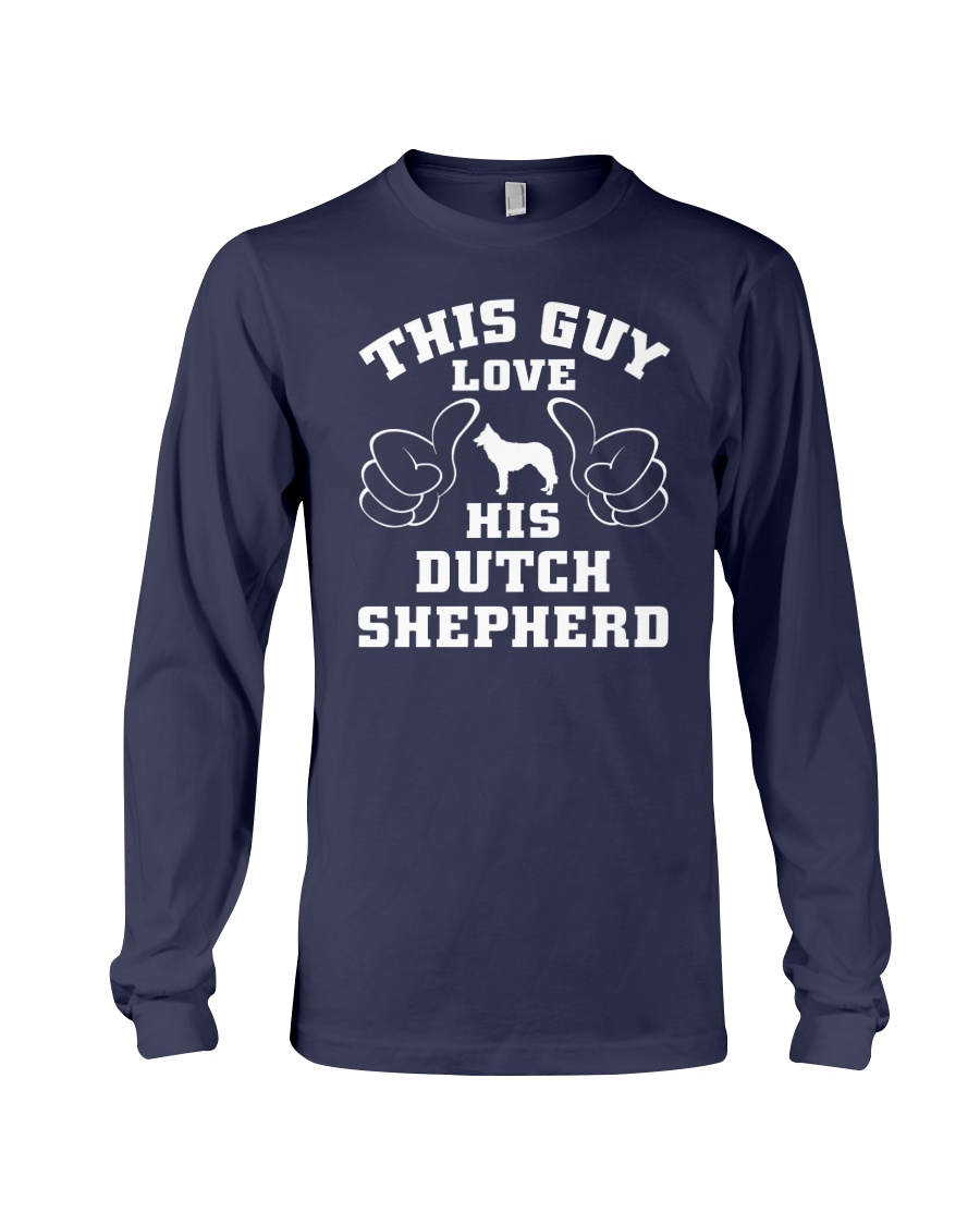 Dutch Shepherd Funny Gift Tshirt Long Sleeve Tee