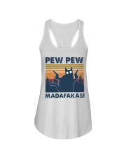 CAT PEW PEW MADAFAKAS VINTAGE SHIRT Ladies Flowy Tank thumbnail