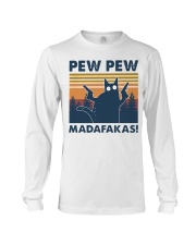 CAT PEW PEW MADAFAKAS VINTAGE SHIRT Long Sleeve Tee thumbnail
