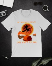 WITCH ON A DARK D Classic T-Shirt lifestyle-mens-crewneck-front-16