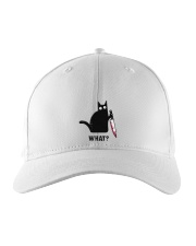Cat What Embroidered Embroidered Hat thumbnail