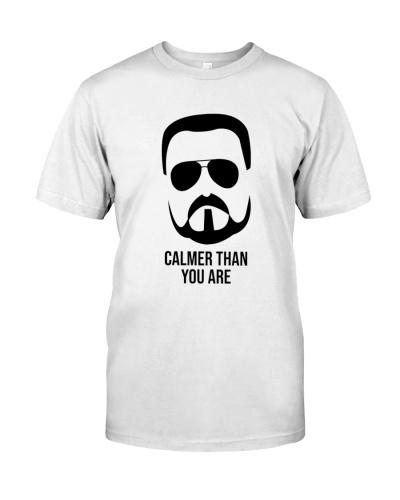 calmer than