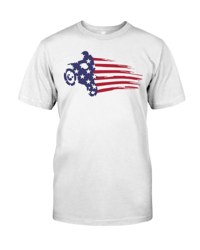 USA flag motocross