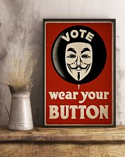 Vote Button 24x36 Poster lifestyle-poster-3