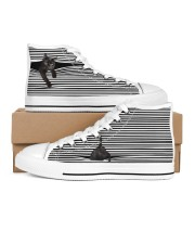 Black Cat Shoes Men's High Top White Shoes inside-right-outside-right