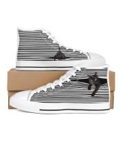 Black Cat Shoes Women's High Top White Shoes thumbnail