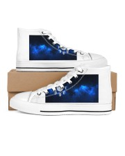 moons shoes Men's High Top White Shoes inside-left-outside-left