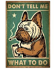 Pug Don't Tell Me 24x36 Poster front