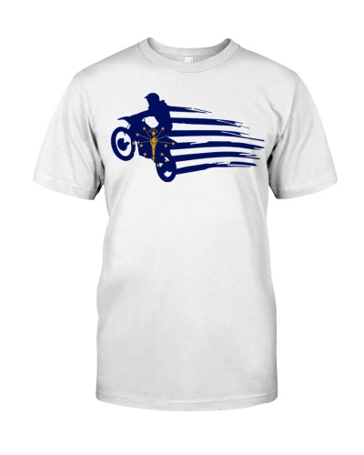 Indiana flag motocross