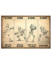 Be Strong Fencing 17x11 Poster front