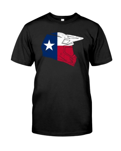 Texas flag motocross helmet