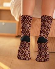 Red socks Crew Length Socks aos-accessory-crew-length-socks-lifestyle-back-01