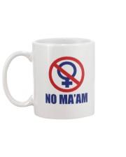 no maam Mug back
