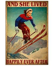 Skiing Happily 24x36 Poster front