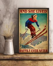 Skiing Happily 24x36 Poster lifestyle-poster-3