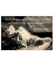 music cats 17x11 Poster front