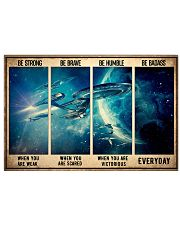 Be Strong Spaceship 17x11 Poster front
