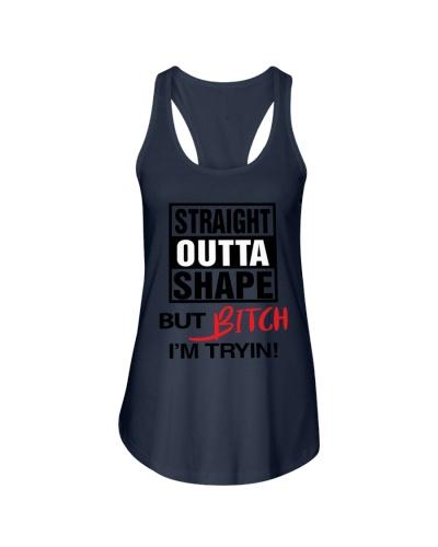straight outta shape shirt