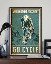 When nothing goes right go cycle 24x36 Poster lifestyle-poster-2