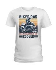Biker Dad Like A Regular Dad But Cooler Ladies T-Shirt tile