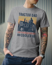 Tractor Dad Like A Regular Dad But Cooler Classic T-Shirt lifestyle-mens-crewneck-front-6