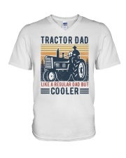 Tractor Dad Like A Regular Dad But Cooler V-Neck T-Shirt tile