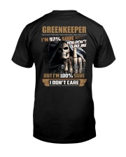 Special Shirt - Greenkeeper Classic T-Shirt back