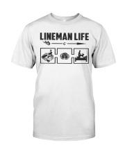 Lineman Life Classic T-Shirt front
