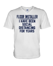 Floor installer V-Neck T-Shirt thumbnail
