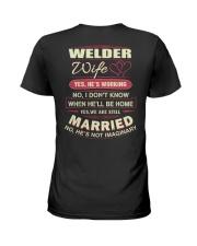 Welder Wife  Ladies T-Shirt back