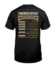 Concrete Cutter Classic T-Shirt back