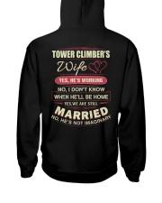 Tower Climber's wife  Hooded Sweatshirt thumbnail