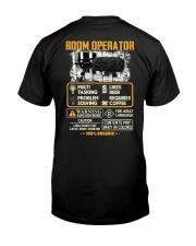 Boom Operator Classic T-Shirt back
