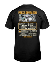 Press Operator Classic T-Shirt back