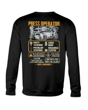 Press Operator Crewneck Sweatshirt thumbnail