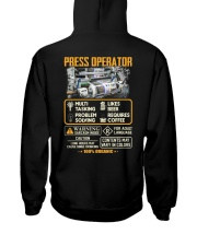 Press Operator Hooded Sweatshirt thumbnail