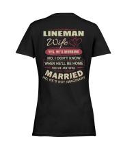 Lineman wife  Ladies T-Shirt women-premium-crewneck-shirt-back