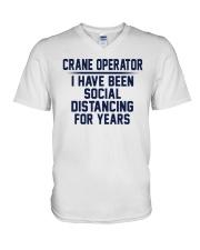 Crane Operator V-Neck T-Shirt thumbnail