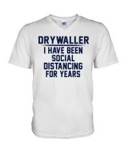 Drywaller V-Neck T-Shirt thumbnail